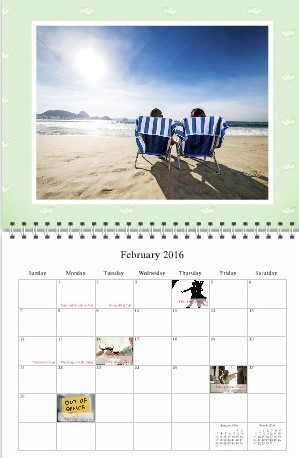 12 Month Photo Challenge Calendar