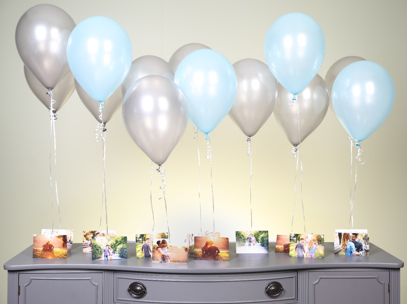 Photo Balloon Chandelier Table Setting