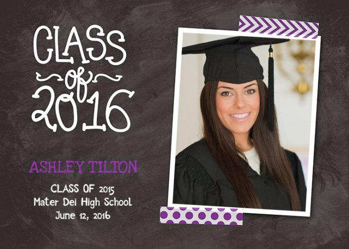 2016 Graduation Announcement