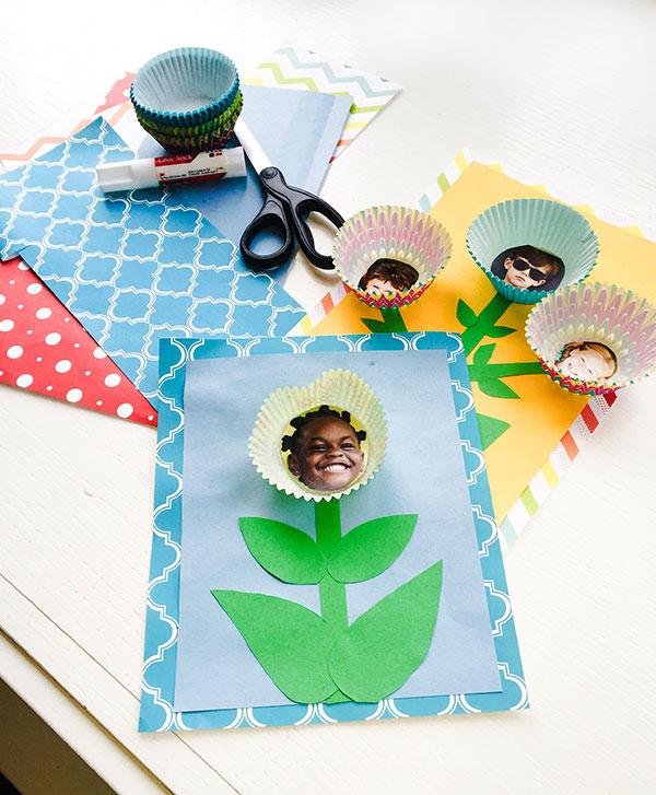photo flower bouquet card