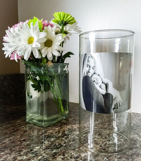 Mother's Day Glass Vase