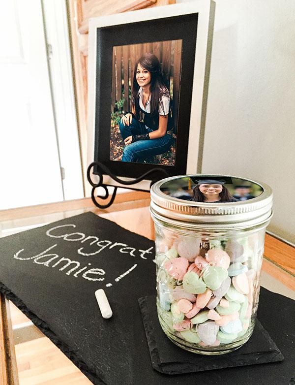 Graduation Favor: Photo Candy Jars