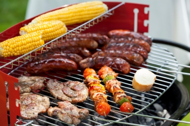 Snacks on a grill