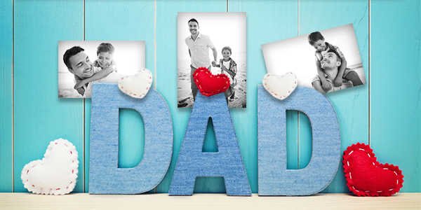 Photo Letter Block Dad