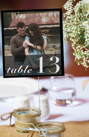 Photo Table Numbers- Wedding