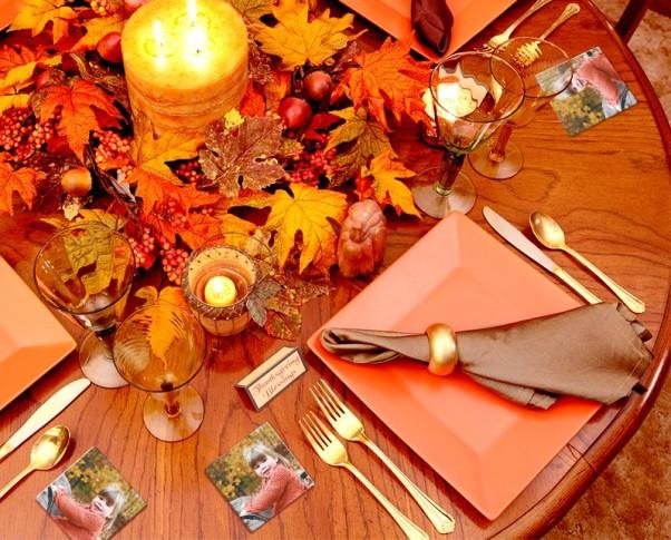 Thanksgiving Coaster Table Decor