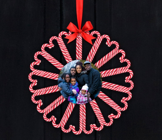 Phot Candy Cane Wreath
