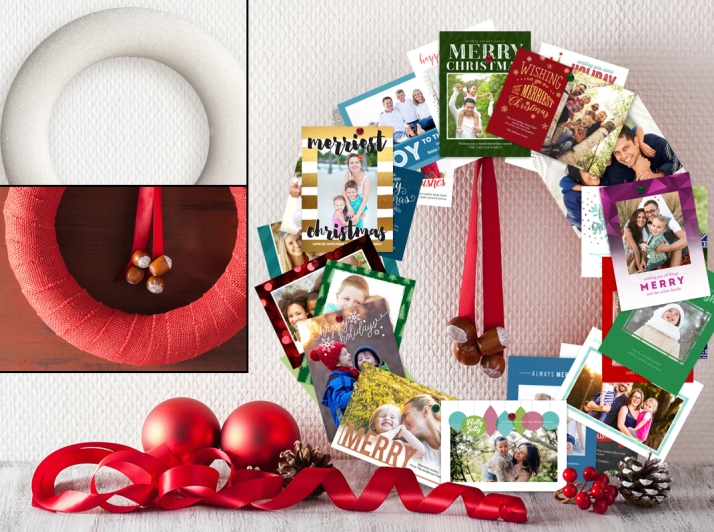 Holiday Greeting Card Wreath