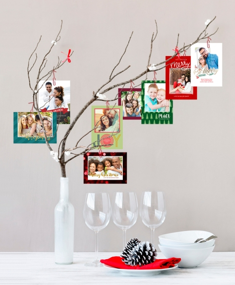 Holiday Greeting Card Tree