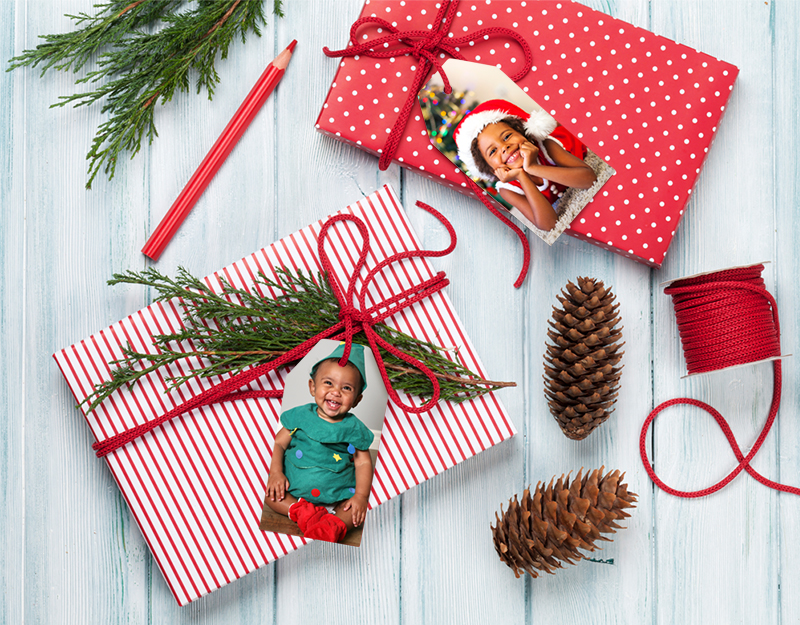Holiday Photo Gifts Tags