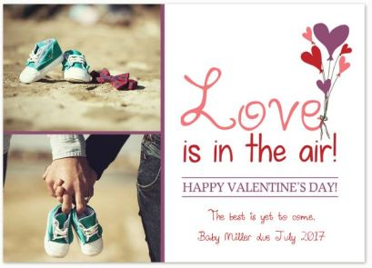 Love is in the Air- Valentine's Dauy Photo Greeting Card