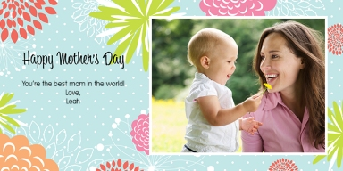 2017 Mother's Day Card- Mother's Day Burst of Flowers