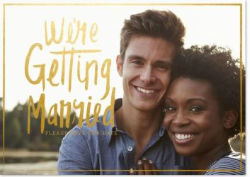 Save the Date Announcements- Gilded Engagement