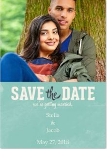 Save the Date Announcements- Modern Invite Blue
