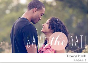 Save the Date Announcement- Pastel Bubble Pink