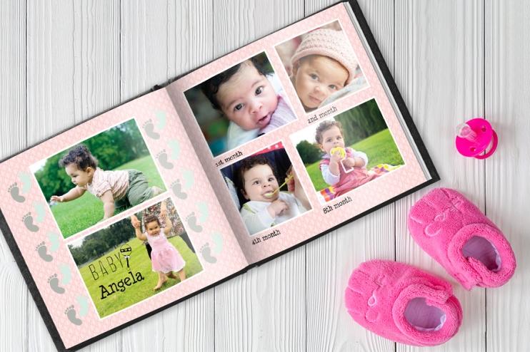 Babys 1st Year Photo Book 1